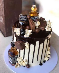 custom jack daniels chocolate cake